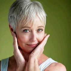 Very short hairstyles with bangs for older women