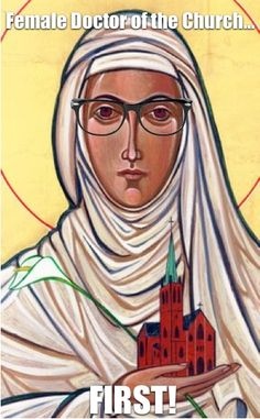 Saint Catherine of Siena (1347 - 1380) - First female Doctor of the Church, a position of theological significance. (She and St. Teresa of Avila were proclaimed Doctors in the same year, but St. Catherine of Siena was the first to be born among the two).