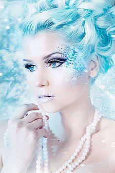 εїз ƸӜƷ ღ .¸¸.•*¨*•✿ƸӜƷ εїзWinter-Snow-Fairy-Make-Up-Looks-Ideas-Trends-2015-13