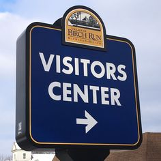 Our new Wayfinding Sign is up. Stop in and see us at 7971 Main Street.