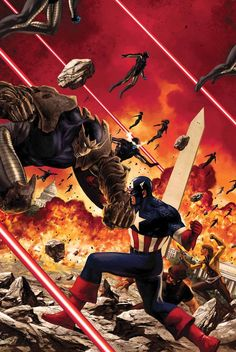 Captain America (2011-2012) #15-19 covers by Steve Epting