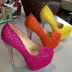 Pops of color heels