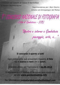 1° Concorso Nazionale di Fotografia – Gambatesa e dintorni… #Molise