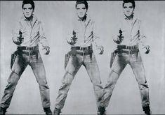Andy Warhol - Triple Elvis (1963). Arte pop. Pintura acrílica y tinta de serigrafía sobre lienzo de 208,28 x 299,72 cm. Museo de Arte Moderno (San Francisco - California), EE.UU