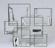 Il prototipo di Konnex, la libreria modulare disegnata dal designer tedesco Florian Gross