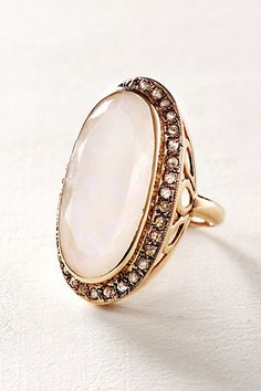 Moonstone And Labradorite Scepter Ring In 14k Rose Gold #anthropologie