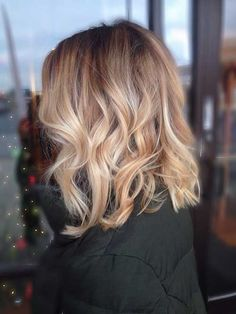 Dark Blonde Long Bob