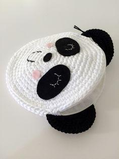 Tığ İşi Sevimli Panda Çanta Yapılışı 6