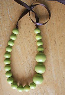 Asymmetrical Peapod Necklace