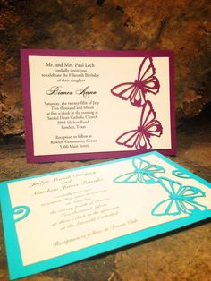 IntriCutz:  Laser Cut Invitations and Stationery that allows you to customize in any way you want!