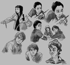 Stranger Things studies pt. 01 - Mike Wheeler, Jonathan Byers, Dustin Henderson, Lucas Sinclair, Steve Harrington