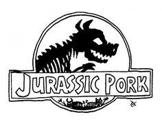 Jurassic Pork — a silly illo by Ian Gunn
