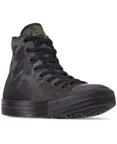 be42cfc21216a0 Converse Men s Chuck Taylor All Star Gradient Camo High Top Casual Sneakers  from Finish Line - Green 11