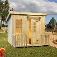 Off the shelf contemporary looking playhouse - Palmako 6ft x 5ft (1.9m x 1.6m) Harry Playhouse £628.99
