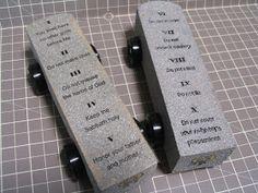 create a work of heart: Awana Grand Prix - Ten Commandments Tablets