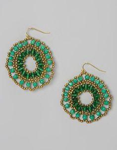 Gold & Green Lucy Earrings emerald is my shittttt