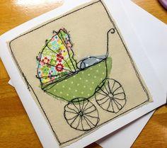 New baby card - pram £4.50