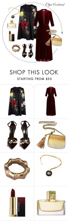 """04.10.2017"" by olgacontrast on Polyvore featuring мода, LUISA BECCARIA, Lanvin, Gucci, Charlotte Chesnais и Estée Lauder"