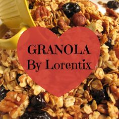 Granola, avena, polen, linaza, nueces, cramberries, miel I Lorentix