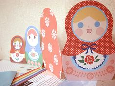 free  Matryoshka party printables