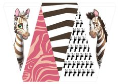 Khumba Birthday Bunting for girls! FREE Party printables - just download on the website: www.khumbamovie.com