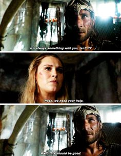 """#The100 4x01 """"Echoes"""" - Clarke and Roan"""