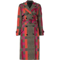 Paul Smith double breasted check coat ($1,895) ❤ liked on Polyvore featuring outerwear, coats, double breasted coat, checkered coat, brown waist belt, brown double breasted coat and long sleeve coat