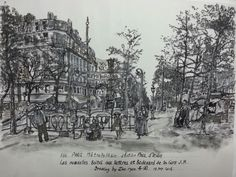 Paris, metropolitain station Drawing by  Zho.ryun.자강