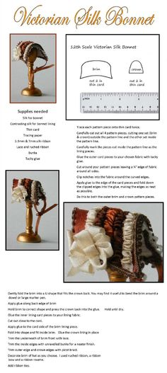 Victorian bonnet tutorial
