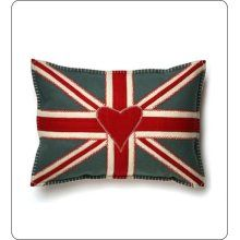 Jan Constantine Union Jack throw pillow