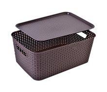 Κουτί Αποθήκευσης με Καπάκι RATTAN 39x27x16.7