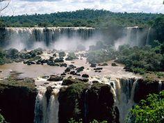 De Iguassu Watervallen in Brazilie