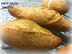Pan de CERVEZA con psyllium y proteicas (Riquísimoy sin gluten)