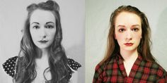 """What Would You Have Looked Like 100 Years Ago?  From Annalisa Hartlaub's photo art project """"Counter / / Culture""""."""