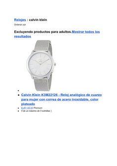 Listado de los relojes Calvin Klein mas vendidos