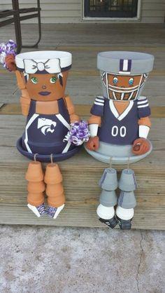 Ksu Fan Flower Pot Heads @ Brat's Crafts on Facebook