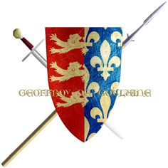 Geoffroy de Goulaine. Alphonse de Goulaine, at the behest of the Duke of Brittany, negotiated peace between the Kings of England and France. He did so with such effectiveness that both Kings granted the Lords of Goulaine the right to bear half of their Royal arms upon his shield. In 1248 Geoffroy de Goulaine took the Cross to join the sixth crusade.