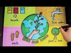 Save Mother Earth Poster, Poster On Earth Day, World Environment Day Posters, Save Environment Poster Drawing, Save Water Poster Drawing, Save Earth Drawing, Save Earth Posters, Earth Day Facts, Environmental Posters