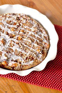 Delicious Pumpkin Cinnamon Roll Casserole - the perfect fall brunch idea! {The Love Nerds}