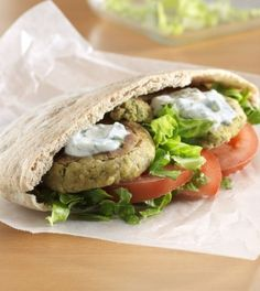 Delicious doesn't have to be bad for you. Check out this amazing Baked Falafel Pitas with Yogurt Feta Sauce recipe: http://www.cleaneatingmag.com/recipes/classics-made-clean/baked-falafel-pitas-with-yogurt-feta-sauce/
