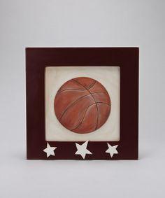 3-D basketball wall art- kids