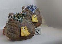 Bolsinha de tecido - patchwork - coruja