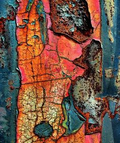 NATURE - nature's artwork - peeling and rust colour, surface pattern and texture - beauty in decay Art Et Nature, Nature Artwork, Abstract Nature, Patterns In Nature, Textures Patterns, Nature Pattern, Print Patterns, Art Texture, Texture Painting