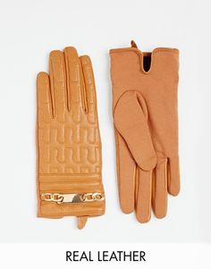 Embossed leather gloves $45 also in black