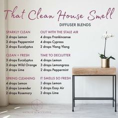 Doterra essential oil diffuser blends by Natalie Blackburne for That Clean House Smell Essential Oil Diffuser Blends, Doterra Essential Oils, Best Smelling Essential Oils, Essential Oils Cleaning, Doterra Diffuser, Clean With Essential Oils, Essential Oil Meme, Cedarwood Essential Oil Uses, Relaxing Essential Oil Blends