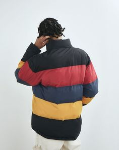 Lazy Oaf Primary Panel Puffer Jacket - Clothing - New In - Mens