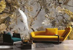 Amazon Collection - Design: A301-3  How can you not love the wild and tropical feel that this collection offers. Custom made to your wall size, these botanical prints will transform any space.  Learn more - www.wallcoverings.co.za  #wciwallpapers #wallpaper #wallcovering #architecturaldigest #interiordesigninspiration #archdigest #beautifulhomes #interiordesign #houzz #homedecor  #architecture #design #photooftheday #photography #homedecor #architect #architectlovers #instagood Peacock Wallpaper, Wallpaper Ideas, Dining Room Wallpaper, Bedroom Wallpaper, Garden Mural, White Peacock, Shop Interiors, Muted Colors, Architectural Digest