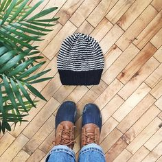 """winter essentials - bean boots, mom jeans & a hand knit striped recycled wool hat ❄️oh and lots of indoor plants to help me forget it's winter"""