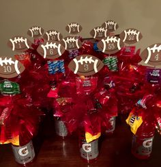 Football Senior Night Gatorade candy bouquets