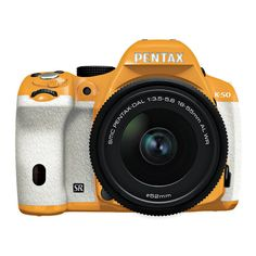 Pentax K-50 SLR Orange White